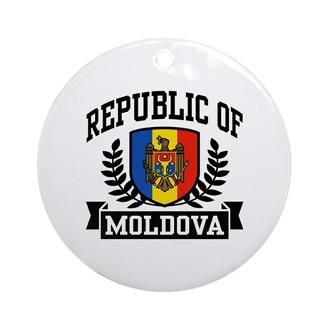 Republic of Moldova Ornament (Round)