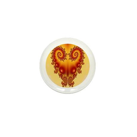 Heart Fractal Mini Button