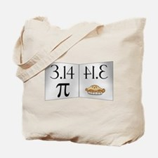 PI 3.14 Reflected as PIE Tote Bag