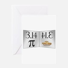 PI 3.14 Reflected as PIE Greeting Card