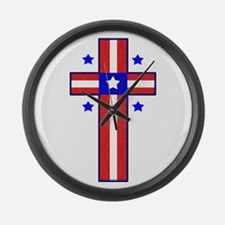 Christian Cross Large Wall Clock