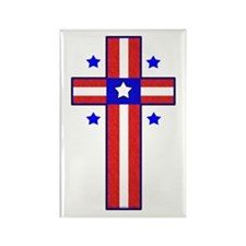 Christian Cross Rectangle Magnet