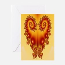 Heart Fractal Greeting Cards (Pk of 10)