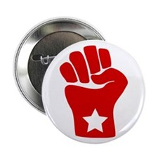 Red Fist Solidarity Button