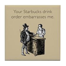 Drink Order Tile Coaster