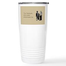 Drink Order Stainless Steel Travel Mug