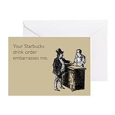 Drink Order Greeting Card