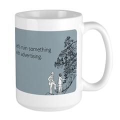 Ruin With Advertising Large Mug