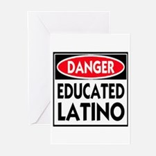 Danger Educated Latino Greeting Cards (Pk of 20)