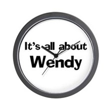 It's all about Wendy Wall Clock