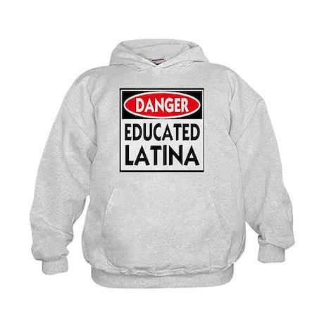 Danger -- Educated LATINA T-Shirt Kids Hoodie
