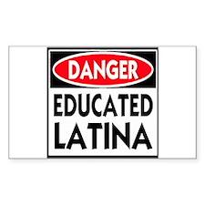 Danger -- Educated LATINA T-Shirt Decal