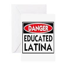 Danger -- Educated LATINA T-Shirt Greeting Cards (