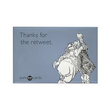 Retweet Thanks Rectangle Magnet