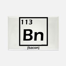 Elemental bacon periodic table Rectangle Magnet