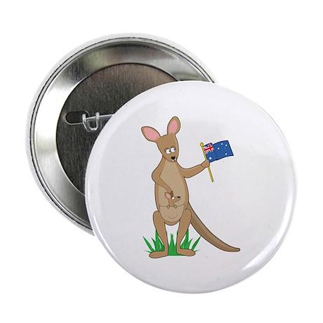 "Animal Alphabet Kangaroo 2.25"" Button (10 pack)"