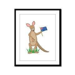 Animal Alphabet Kangaroo Framed Panel Print