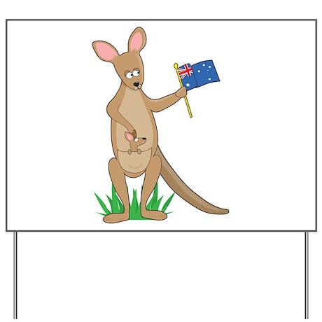 Animal Alphabet Kangaroo Yard Sign