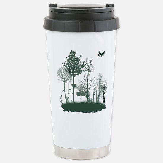 A Natural Band Stainless Steel Travel Mug