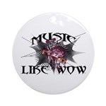 Music Like Wow Ornament (Round)