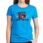Music Like Wow Women's Dark T-Shirt