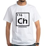 Elemental chocolate periodic table White T-Shirt