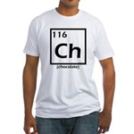 Elemental chocolate periodic table Fitted T-Shirt