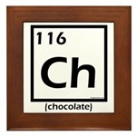 Elemental chocolate periodic table Framed Tile