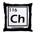 Elemental chocolate periodic table Throw Pillow