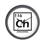 Elemental chocolate periodic table Wall Clock
