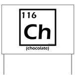 Elemental chocolate periodic table Yard Sign