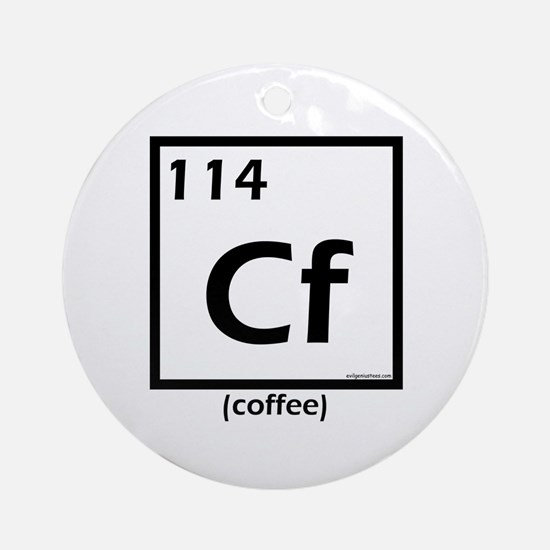Elemental coffee periodic table Ornament (Round)