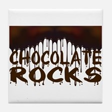 Chocolate Rocks Tile Coaster