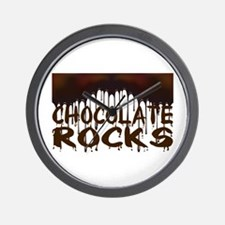 Chocolate Rocks Wall Clock