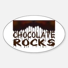Chocolate Rocks Sticker (Oval)
