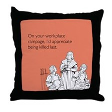 Workplace Rampage Throw Pillow