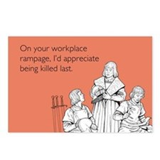 Workplace Rampage Postcards (Package of 8)