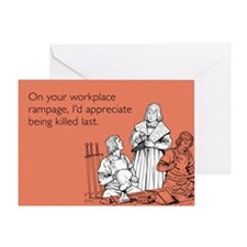 Workplace Rampage Greeting Card