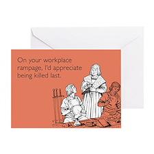 Workplace Rampage Greeting Card