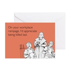 Workplace Rampage Greeting Cards (Pk of 20)