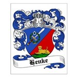 Henke Coat of Arms Small Poster