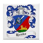 Henke Coat of Arms Tile Coaster