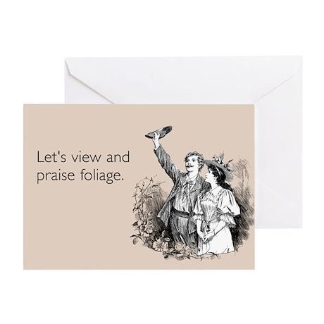 Praise Foliage Greeting Card