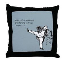 Office Workouts Throw Pillow