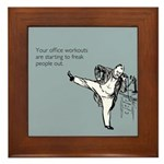 Office Workouts Framed Tile