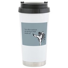 Office Workouts Stainless Steel Travel Mug