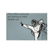 Office Workouts Rectangle Magnet
