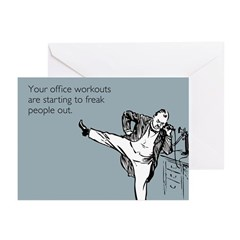 Office Workouts Greeting Cards (Pk of 10)