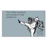 Office Workouts Sticker (Rectangle)
