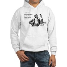 Football Drunk Hooded Sweatshirt